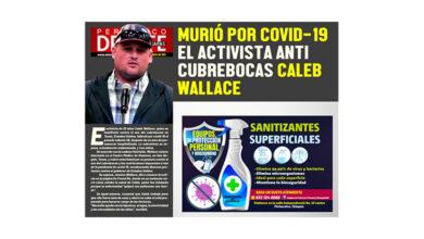 Photo of MURIÓ POR COVID-19 EL ACTIVISTA ANTI CUBREBOCAS CALEB WALLACE