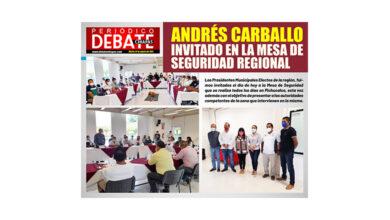 Photo of ANDRÉS CARBALLO INVITADO EN LA MESA DE SEGURIDAD REGIONAL