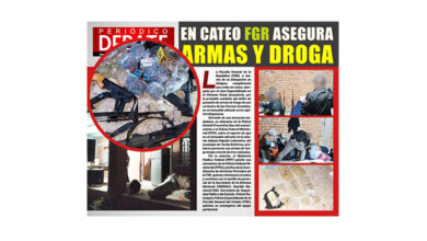 Photo of EN CATEO FGR ASEGURA ARMAS Y DROGA EN UN INMUEBLE EN TUXTLA GUTIÉRREZ