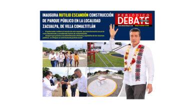 Photo of INAUGURA RUTILIO ESCANDÓN CONSTRUCCIÓN DE PARQUE PÚBLICO EN LA LOCALIDAD ZACUALPA, DE VILLA COMALTITLÁN