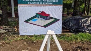 """Photo of En Solosuchiapa, será una  realidad el Banco """" Bienestar"""" se coloca primera piedra"""