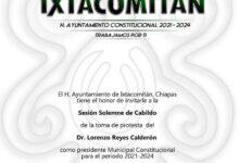 Photo of Atenta invitación al Pueblo de Ixtacomitan, Chiapas
