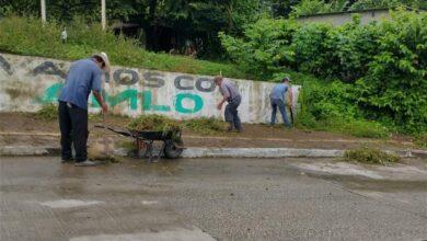 Photo of Realiza Gobierno Municipal de Pichucalco, chapeo y limpia en calles, parques y jardines de la ciudad