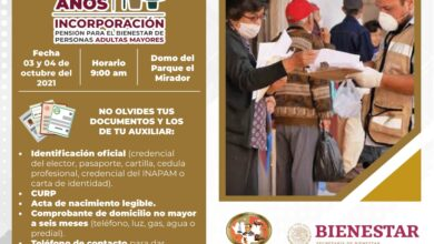 Photo of 03 y 04 de octubre se incoraran   adultas Mayor  de 65 años  en Juárez Chiapas