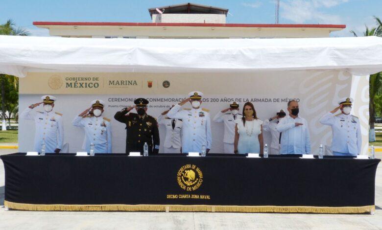 """Photo of SECRETARÍA DE MARINA REALIZA CEREMONIA CONMEMORATIVA A LOS """"200 AÑOS DE LA CREACIÓN DE LA ARMADA DE MÉXICO"""",EN LA DÉCIMO CUARTA ZONA NAVAL"""